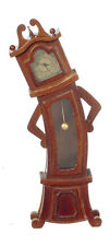 DOLLHOUSE MINIATURE Twisted Haunted  Alice in Wonderland Grandfather Clock WORKS