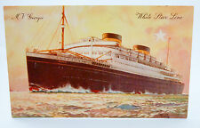 M.V Georgic White Star Line Postcard Unused