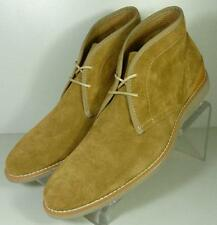 203090 SPBT50 Mens Boots Size 9 M Tan Suede Lace Up Ankle Boot Johnston Murphy