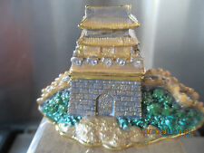 THE GREAT WALL OF CHINA ~ ENAMEL AND JEWELED TRINKET BOX  #3778