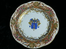 """19th century Fatto-a Capo-di Monte (CAPODIMONTE) ARMORIAL Coat of Arms 11"""" Plate"""