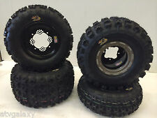 DWT Champion Box Beadlock Wheels GBC XC Master Tires Front/Rear Honda TRX 400EX