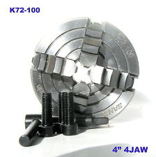 """1 pc Lathe Chuck 4"""" 4Jaw Independent & Reversible Jaw K72-100 sct-888"""