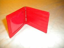 BRAND NEW Genuine Eel skin Leather Money Clip Wallet SLIM WITH A CLEAR WINDOW