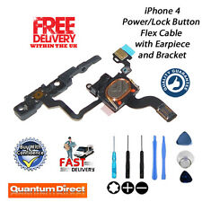 Replacement for iPhone 4 Power/Lock Button/Switch + Earpiece + Bracket + Tools