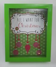 All I want for Christmas Wish Wishes Dream Shadow Box Slot for Present List