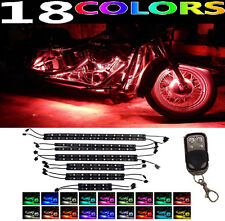 12pc Motorcycle H.D LED Neon Under Glow Lights Strip Kit For Harley Davidson
