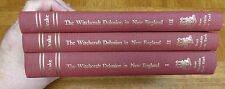 WITCHCRAFT DELUSION IN NEW ENGLAND ITS RISE, PROGRESS, TERMINATION - 3 HC Vols