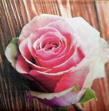 4 X SINGLE PAPER NAPKINS  PARTY  ROSE PASSION  DECOUPAGE  CRAFTING-95