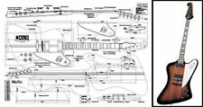 Full Scale Plans for Gibson Firebird Electric Guitar Building