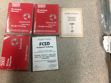2003 LINCOLN LS Service Shop Repair Manual Set OEM W EWD & Training Book + Bulle