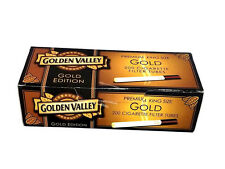 Golden Valley Gold Edition King Size Cigarette Tubes (box) 200 Filter Tubes RYO
