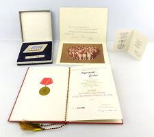 #e2983 Nachlass: Urkunde für Medaille 20 Jahre treue Dienste+Abzeichen DVfL 1981