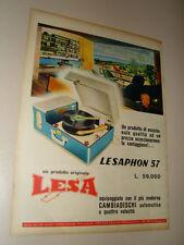 LESAPHON 57 LESA GIRADISCHI=PUBBLICITA=ADVERTISING=WERBUNG=ANNI '50=683