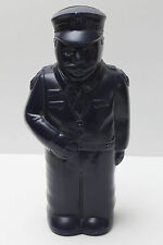 Vintage Plastic Police Man Money Box - Blue - 24.5 cm tall - EVC