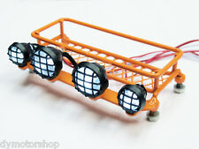 1:10 Scale Metal Roof Rack (Orange) with LED Lighting for RC Crawler x 1 Unit