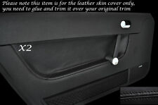 BLACK STITCH 2X DOOR CARD TRIM LEATHER SKIN COVERS FITS AUDI TT MK1 1998-2006