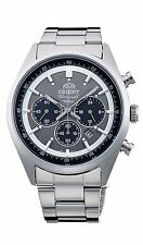 New!! ORIENT Men's Watch WV0011TX Neo70's Solar Panda Chronograph Made in Japan