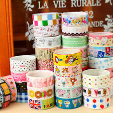 DIY Bulk Sticky Adhesive Sticker Decorative Washi Tape Decor Home Scrapbooking