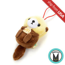 "Japan 2"" Sea Otter Amuse Petitmaru Aquarium Plush Phone Strap Mascot Cute Kawaii"
