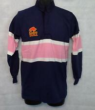"Raging Bull Mens Stripe Long Sleeve Polo Shirt Top Size 38"" Chest #2329"