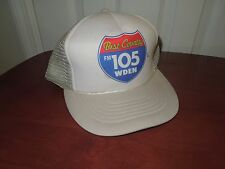 Vintage Mesh Snap-Back Foam Hat Trucker Ball Cap WDEN FM 105 Country Radio