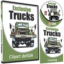 TRUCKS CLIPART-VINYL CUTTER PLOTTER IMAGES-EPS VECTOR CLIP ART CD