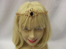 Gold Medieval Circlet ~ Black Gem  ~ Fairy ~ Headdress ~ Arwen ~ Maid Marion