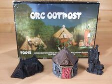 GRENDEL RESIN ORC OUTPOST WITH ORIGINAL BOX PAINTED F0015 25MM SCALE (L)
