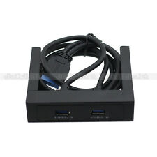 "3.5"" Front Panel Floppy Bay 2 USB 3.0 Ports 5Gbps with 20 Pin Bracket Cable"