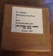 Box Of 5 NOS Mainsprings For The 8/0 Grade 554 -539- Movements 647