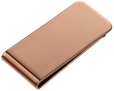 Visol Stefan Rose Gold Engravable Money Clip, VMC-906a, New