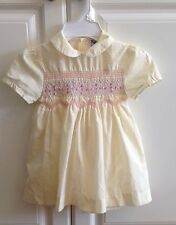Vintage Toddler Girl Dress 3T Yellow Smocked Made In The Philippines ADORABLE