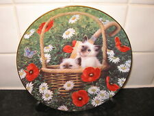 CAT  PLATE  -  WAKE UP CALL  -  FRANKLIN MINT