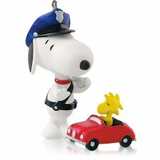"New 2014 Hallmark ""Officer Snoopy"" Ornament - #17 Series - Peanuts Gang"