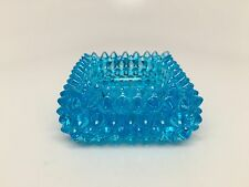FENTON Blue HOBNAIL Glass Master Salt / Votive Holder