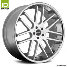 GIANELLE Silver w Machined Face & Chrome Lip Staggered Wheels 5x120 Bolt Pattern