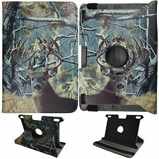 CAMO TAIL DEER CASE KINDLE FIRE HDX 8.9 STAND 360 ROTATE TABLET COVER