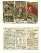 Turkish cross cut tobacco cigarette card flag of egypt coat of arms duke sone co