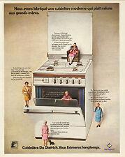 Publicité 1973  Cuisinière moderne  DE DIETRICH
