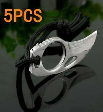 5*Outdoor Sports Survival Steel Finger Claw Knives Hook Fixed Blade Knife Tool タ