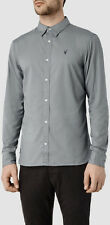 """*NEW """"ALLSAINTS"""" MEN'S """"REDONDO"""" LS GREY SHIRT SIZE """"2XL"""" w TAGS ATTACHED!"""
