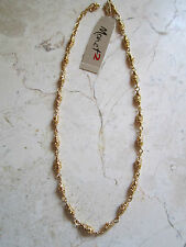 NEW WITH TAGS  MONET 2  GOLD TONE TWISTED LINKS 16 INCH  NECKLACE
