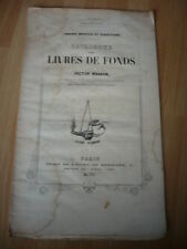 CATALOGUE DES LIVRES DE FONDS DE VICTOR MASSON 1847