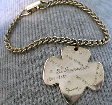 Girl Scout CHARM BRACELET 1950s Be Prepared in 15 Languages EUC Christmas GIFT