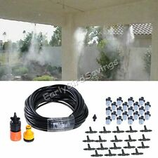 "66"" Garden Patio Water Misting Cooling System Sprinkler Nozzle Micro Irrigation"