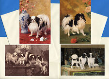 JAPANESE CHIN PACK OF 4 VINTAGE STYLE DOG PRINT GREETINGS NOTE CARDS #1