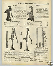 1926 PAPER AD Red Cross Pitcher Spout House Force Hayes Water Well Pump Pumps