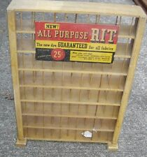 Antique Country Store Rit Dye Store Display Case. 8884