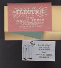 GE General Electric Refrigerator Electra or the Magic Purse Ad Card
